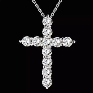 Jewelry - ✝️🕊Crystal Silver Cross Necklace 🕊✝️